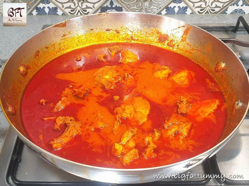 Preparation of Chicken Vindaloo