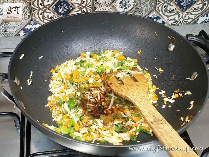 Preparation of Vegetable Fried Rice