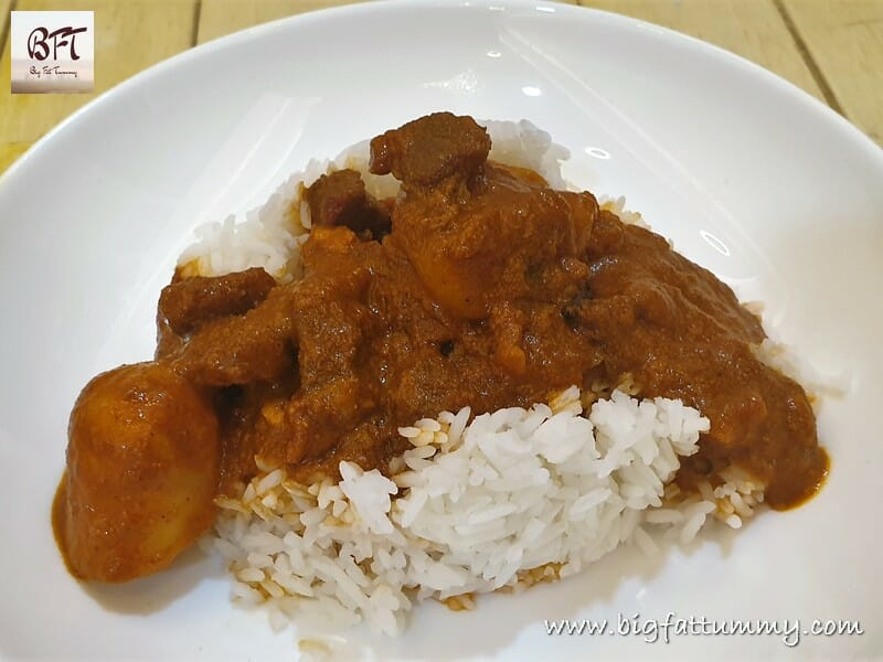Coconut Beef Curry on Rice