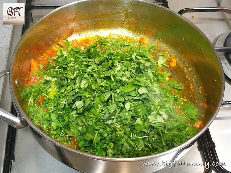 Making of Paneer Methi