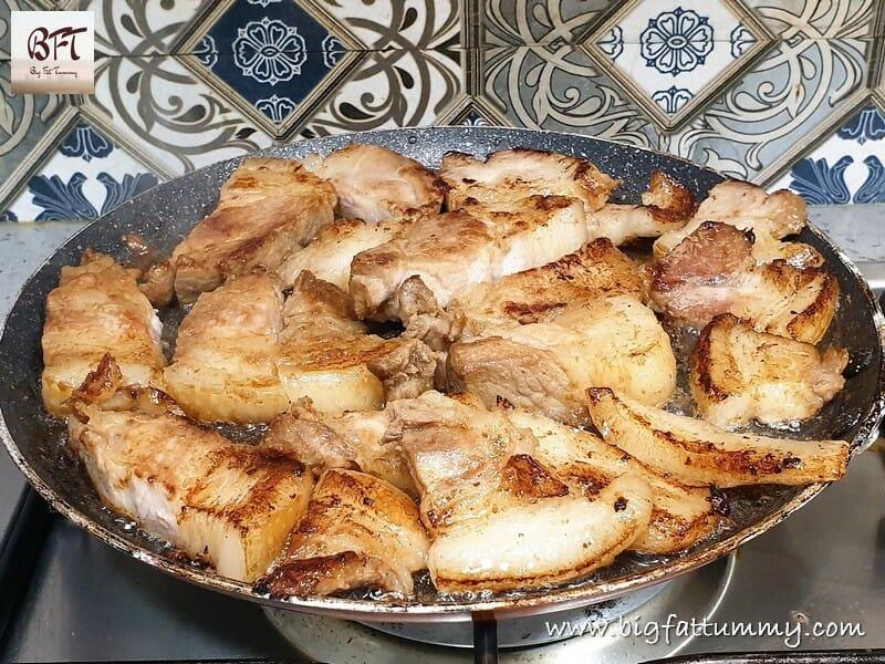 Preparation of Pork Chilly Garlic