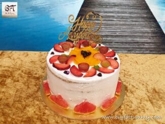 Cream and Fruit Cake
