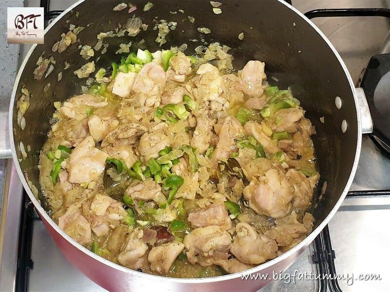 Preparation of Arroz com Galinha - Goan Chicken Pulao