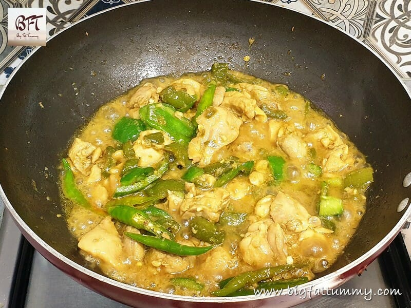 Preparation of Hyderabadi Chilly Chicken