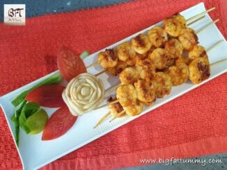 Prawns on a Stick - Goan Style