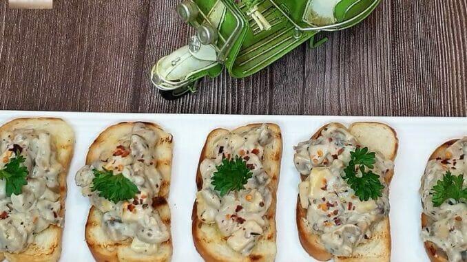 Mushroom Cheese Toast