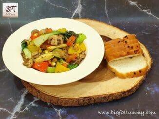Restaurant Style Mushroom Vegetable Stir Fry