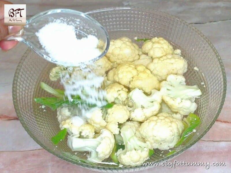 Preparation of Prawn Cauliflower Caldinho